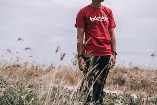 Red Crew-neck Shirt