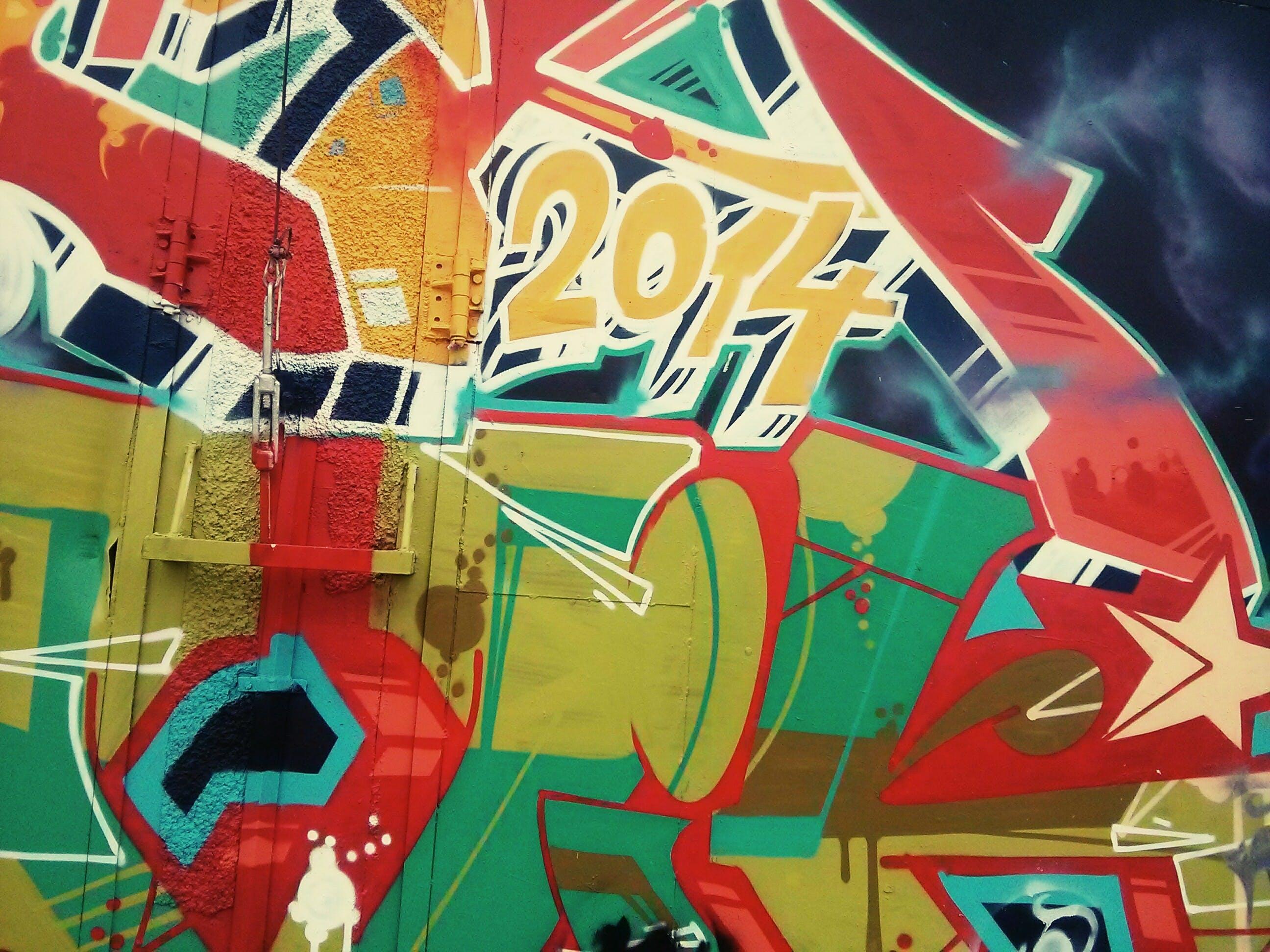 Free stock photo of graffiti, wall, colorful, colourful