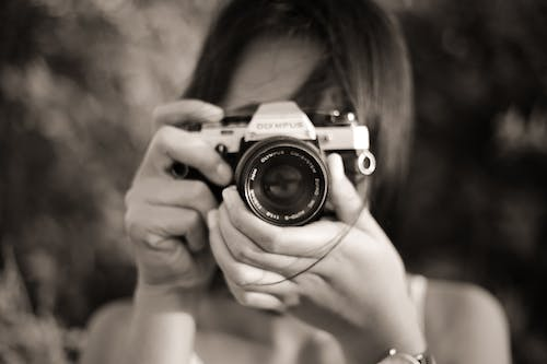 Free stock photo of analog camera, bali, black and white