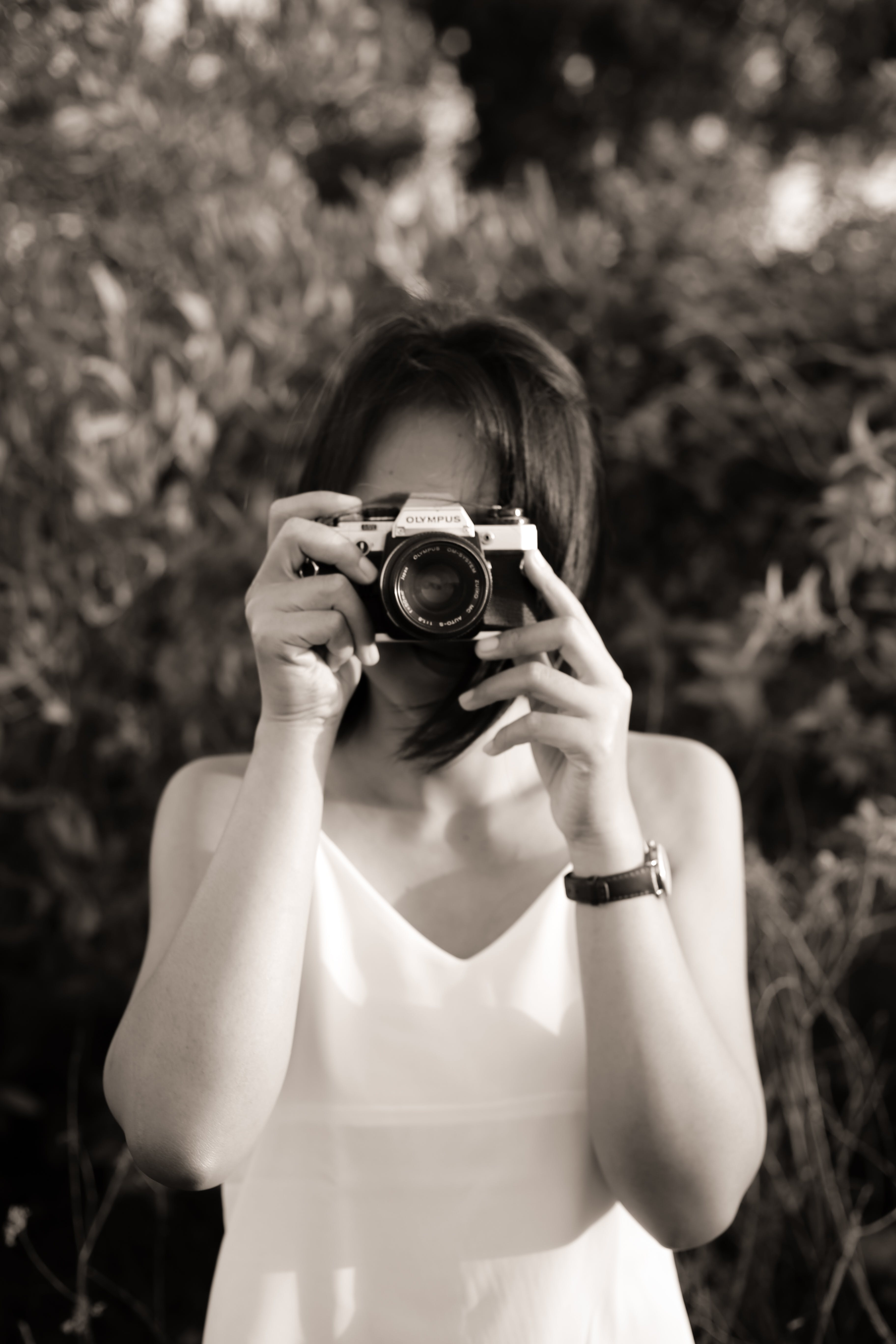 Free stock photo of analog camera, bali, monochrome photography, olympus om 10