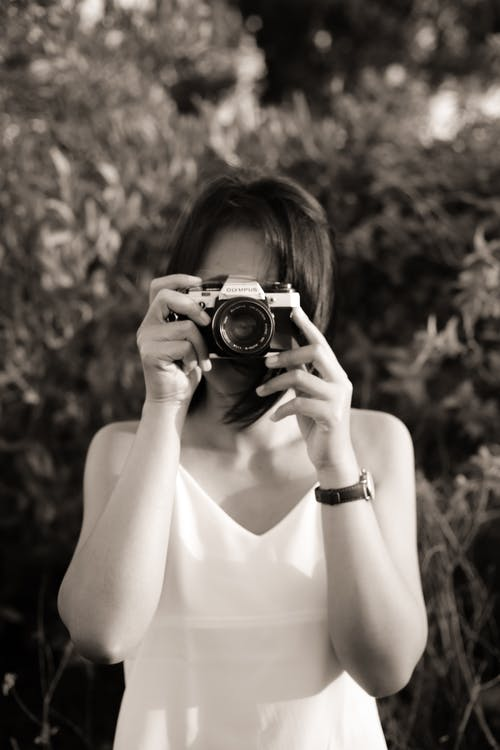 Free stock photo of analog camera, bali, monochrome photography