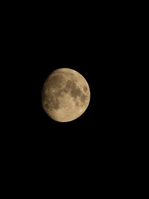 Moon on dark sky in night sky