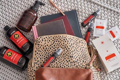 Brown and Black Leopard Print Leather Handbag