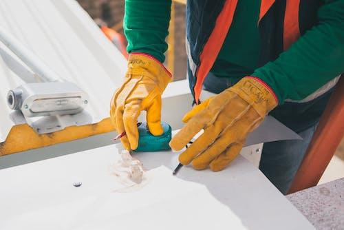 建築工人, 测量, 防护手套 的 免费素材图片
