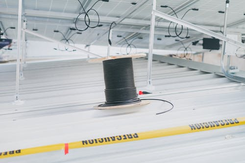Cable Reel on Roof