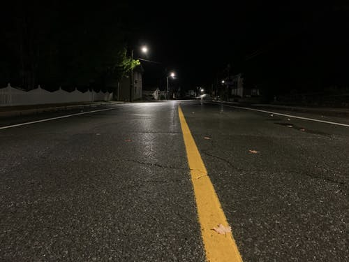 Free stock photo of asphalt road, night, night time