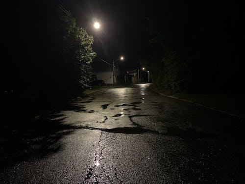 Free stock photo of at night, city street, damp