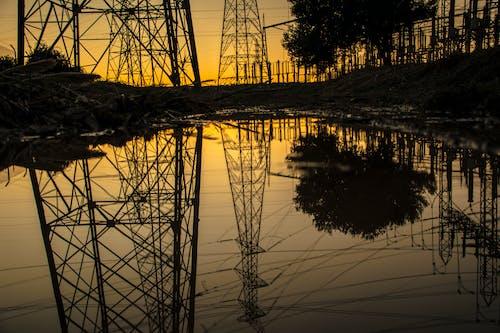 Gratis lagerfoto af aften, elektricitet, elmast, energi