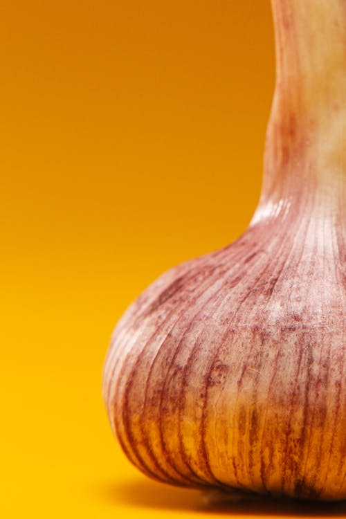 Extreme Close Up Photo of Garlic
