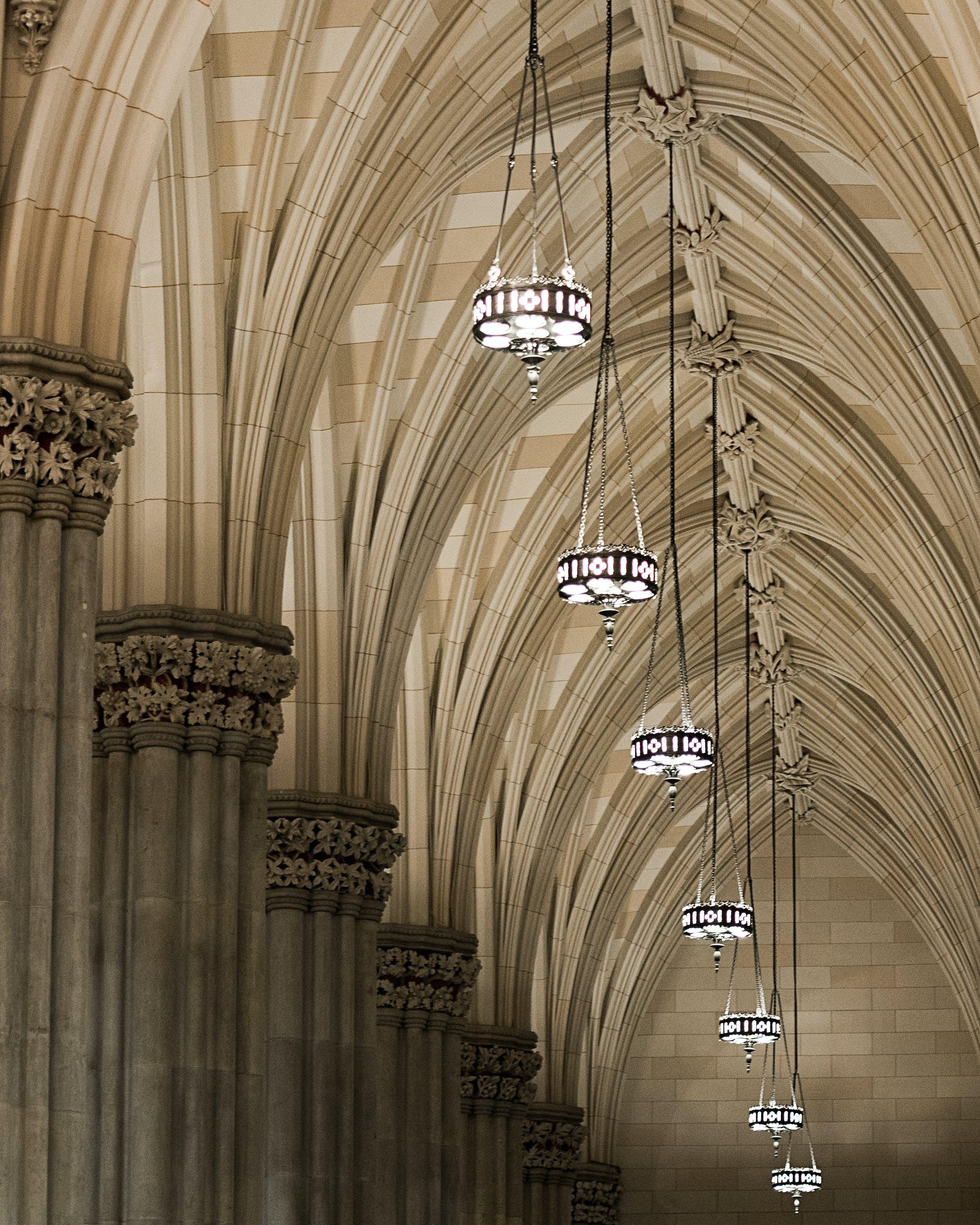 Gray Pendant Lights on Ceiling
