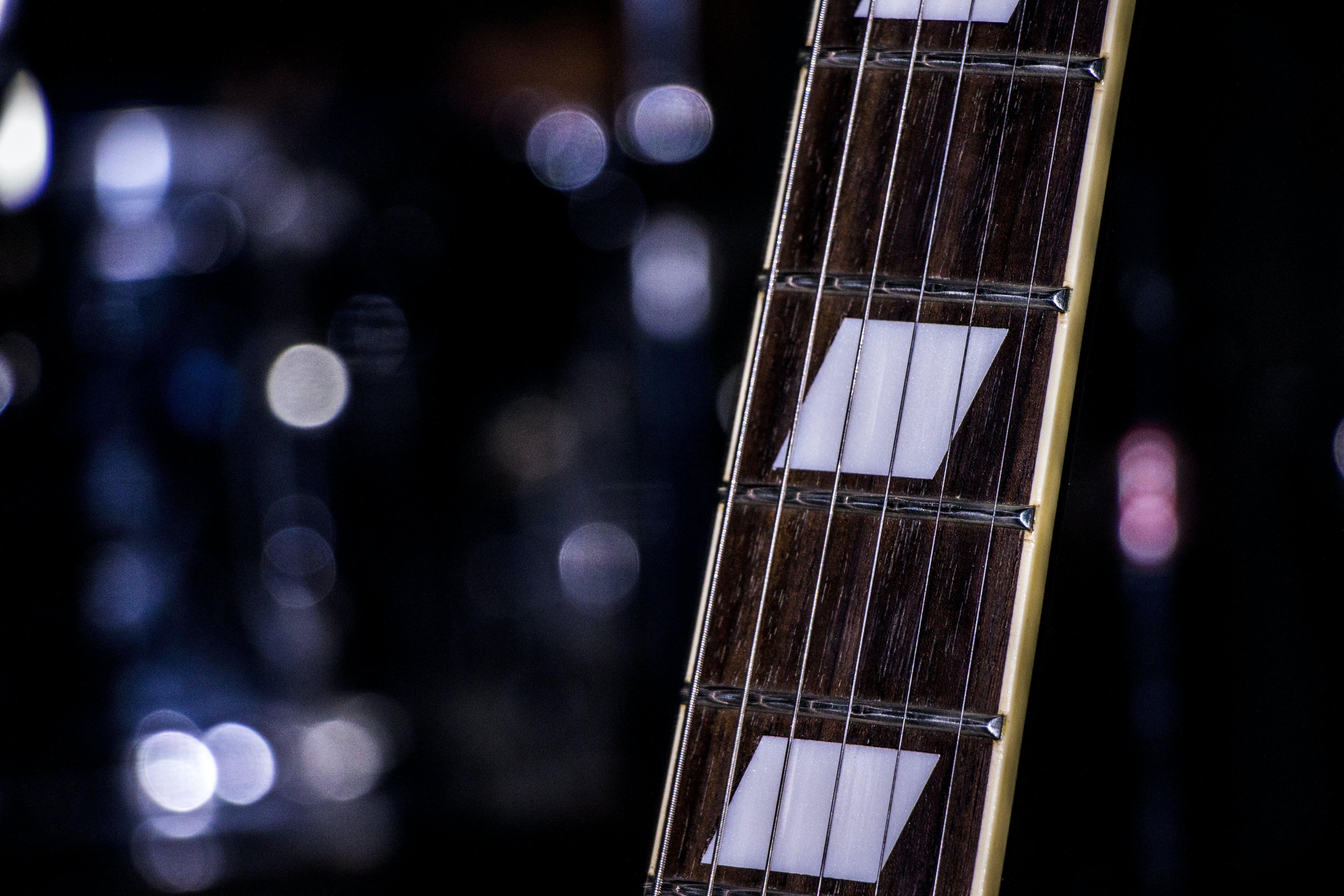 Free stock photo of night, rock, bokeh, e-guitar