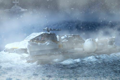 Gratis lagerfoto af forkølelse, sne, star wars, starship