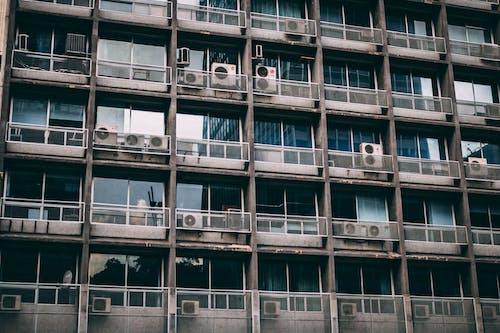 Gratis lagerfoto af aircon, arkitektdesign, arkitektur, balkon