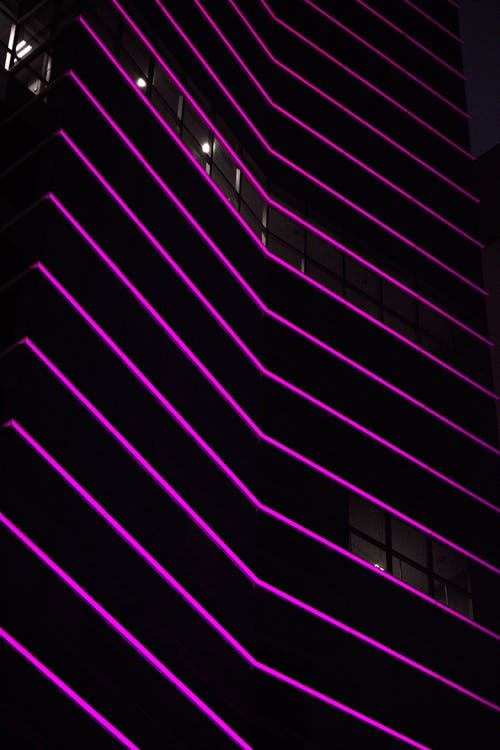 Free stock photo of building, building exterior, neon, neon light