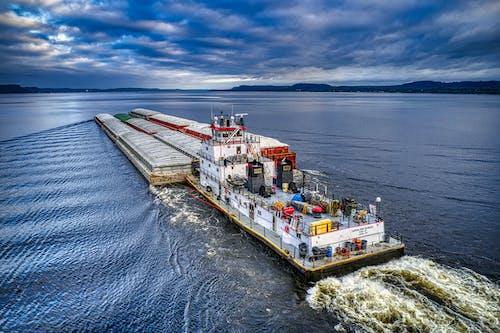 タグボート, はしけ, ボートの無料の写真素材