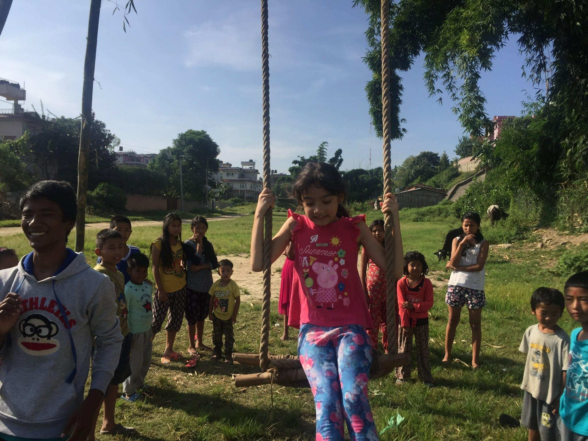 Free stock photo of children, fun, swing