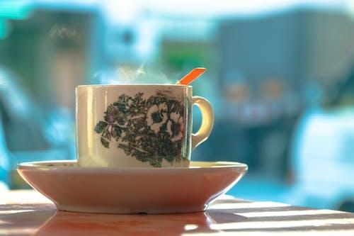 คลังภาพถ่ายฟรี ของ กาแฟ, คาเฟอีน, จานรอง, ชา