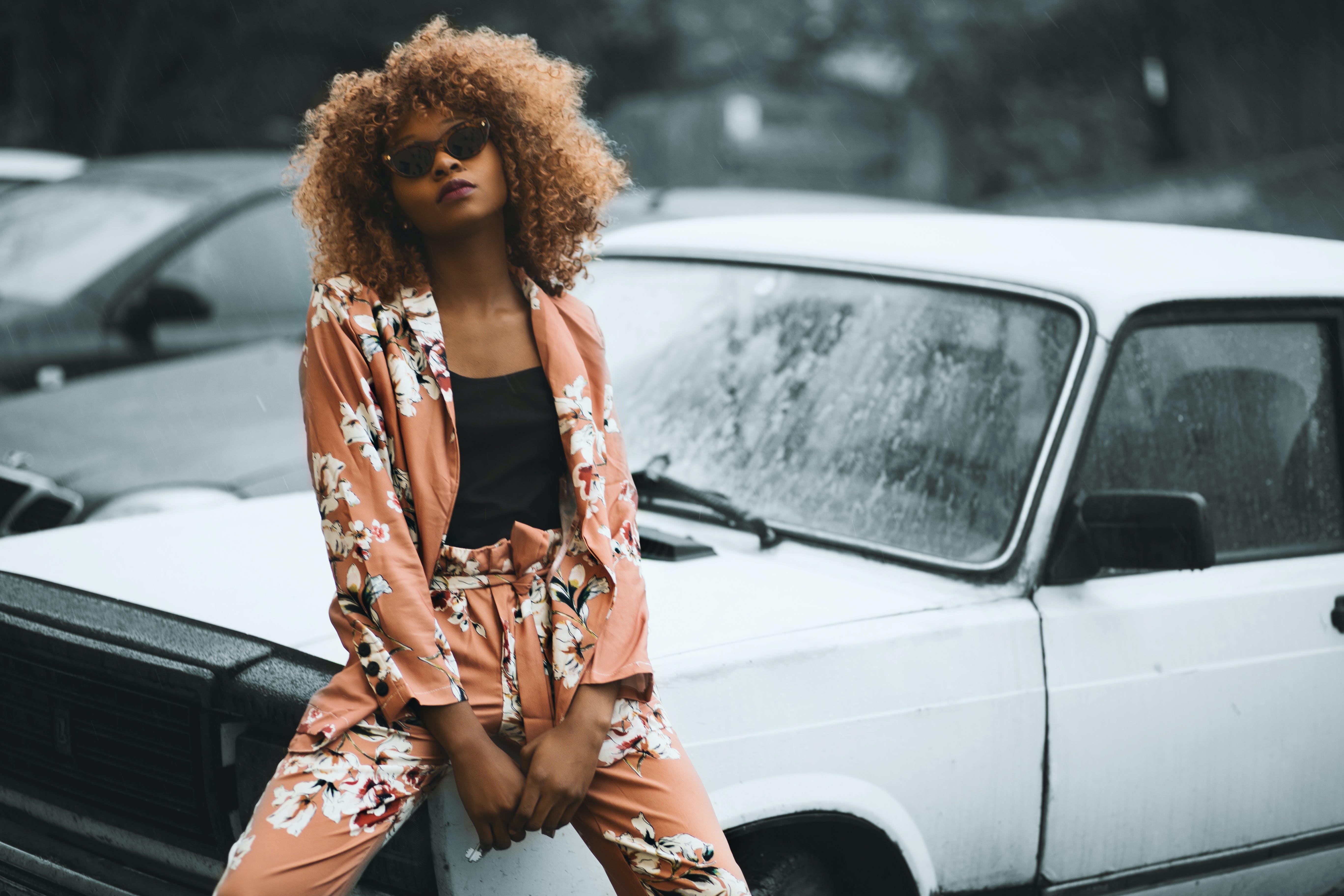 Free stock photo of model, car, photo, blogger
