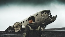 person, airplane, wreck