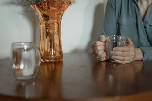 Shallow Focus of Wooden Table Top