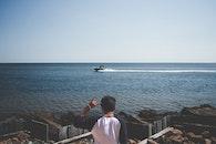 sea, man, person