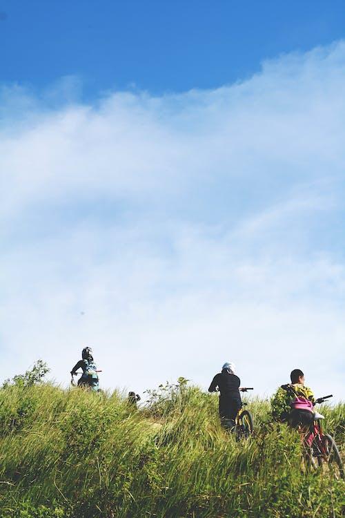 人種, 冒險, 天空, 山地車手 的 免費圖庫相片