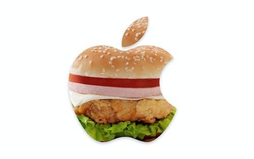 アップルのロゴ, お腹がすいた, クリエイティブの無料の写真素材