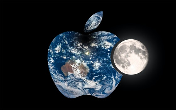 Free stock photo of creative, earth, apple, dark
