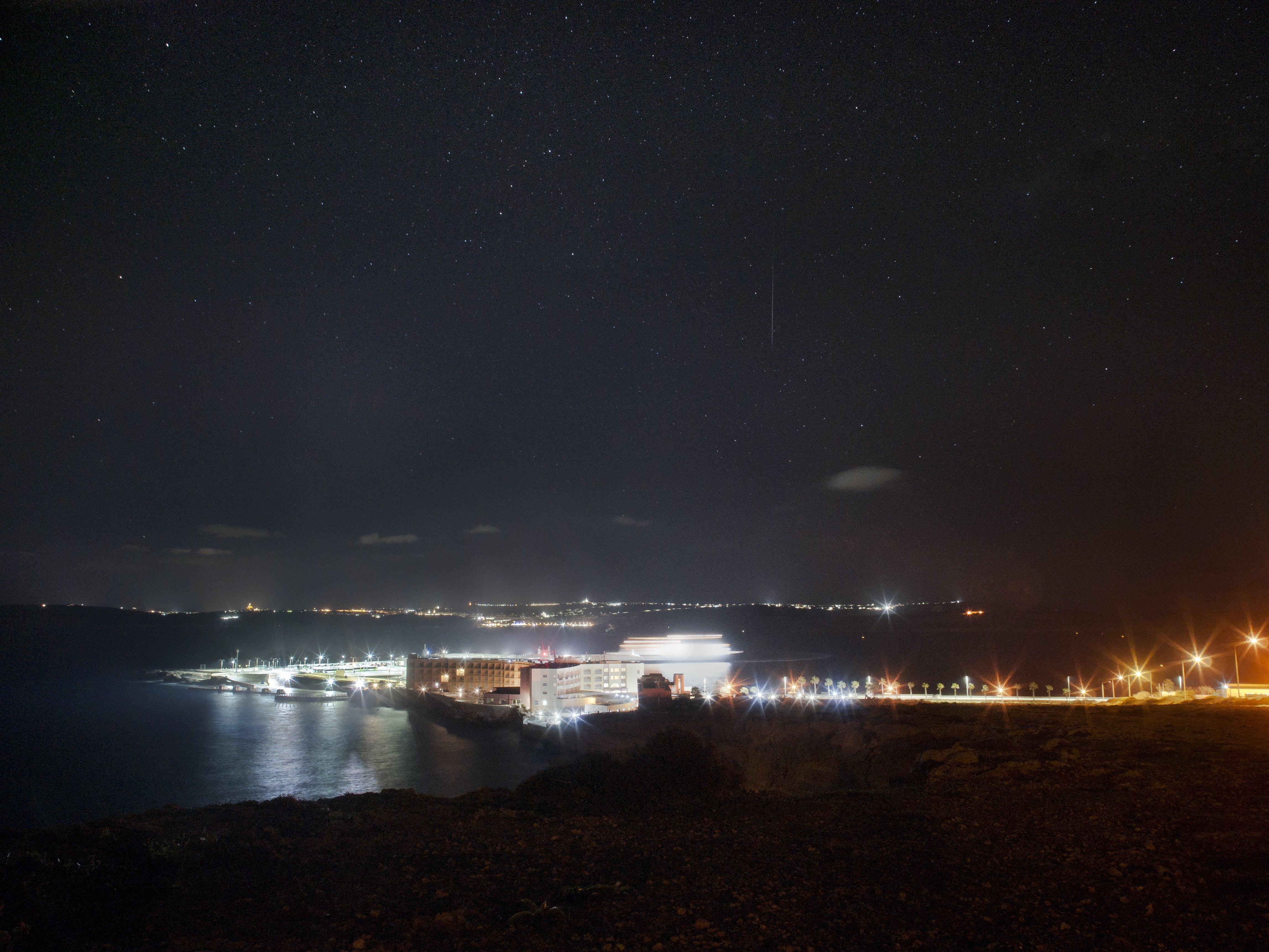 Free stock photo of road, night, bay, port