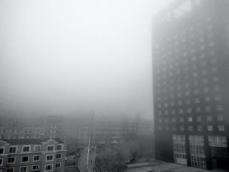Free stock photo of buildings, fog, mist, outdoors
