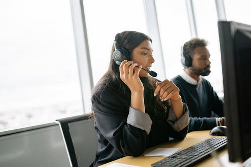 Call Center Agent Working
