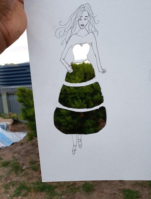Foto stok gratis memotong kertas seni