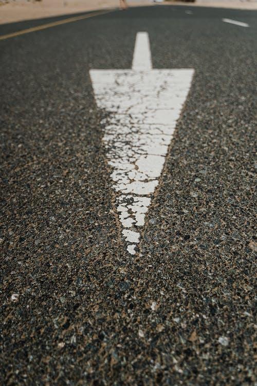 Gray Concrete Floor with White Paint