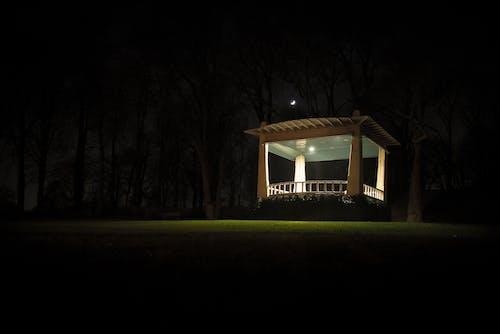 คลังภาพถ่ายฟรี ของ กลางคืน, จันทรา, มืด, ศาลา