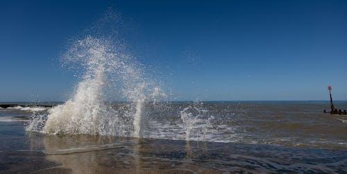 Free stock photo of beach, foam, impact