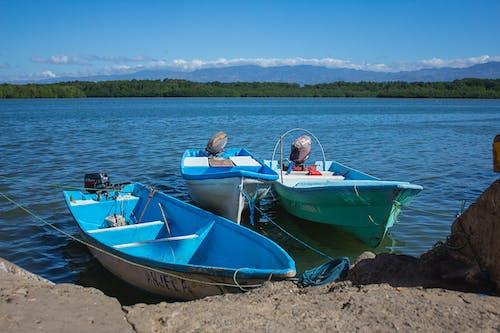 Free stock photo of blue skies, boats, fishing boat