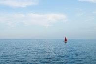 sea, water, clouds