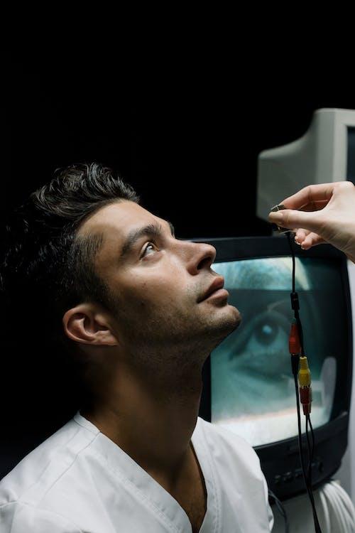 Person Getting an Eye Checkup