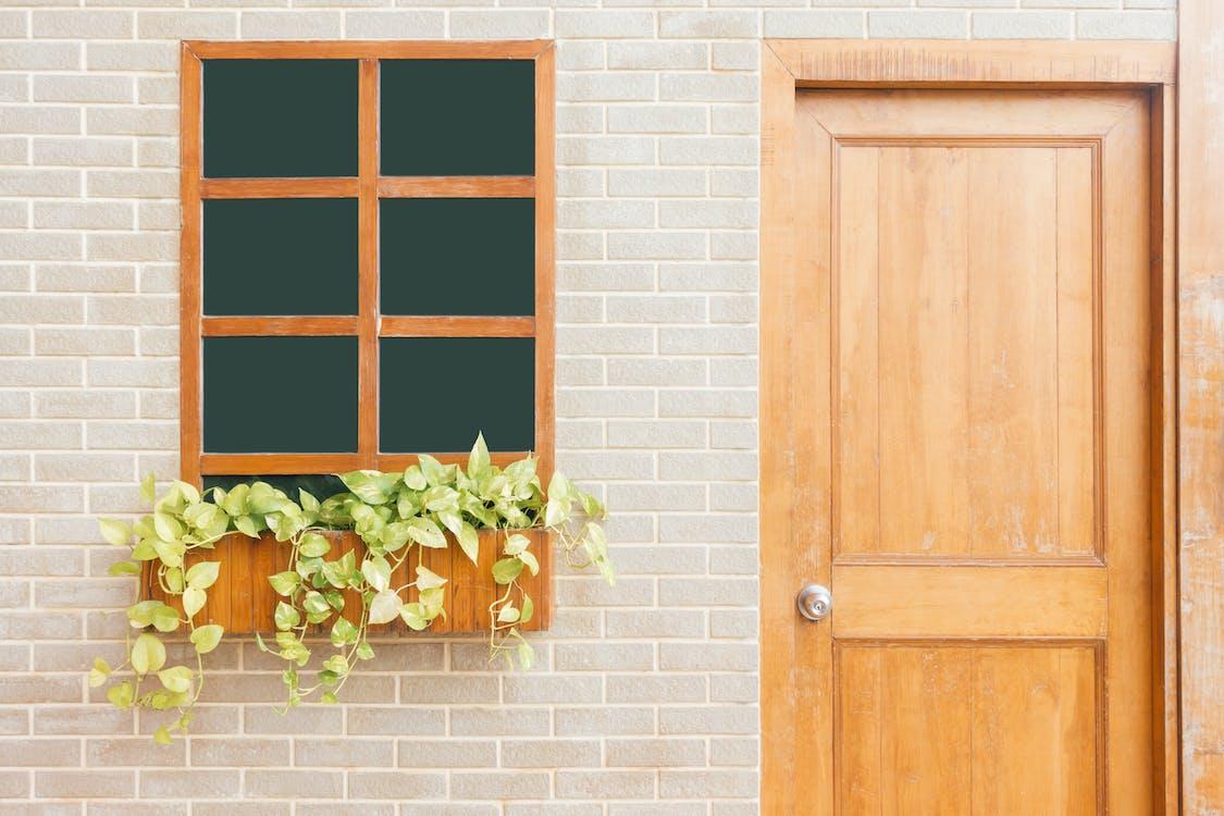 Photo of Wooden Door Near Window