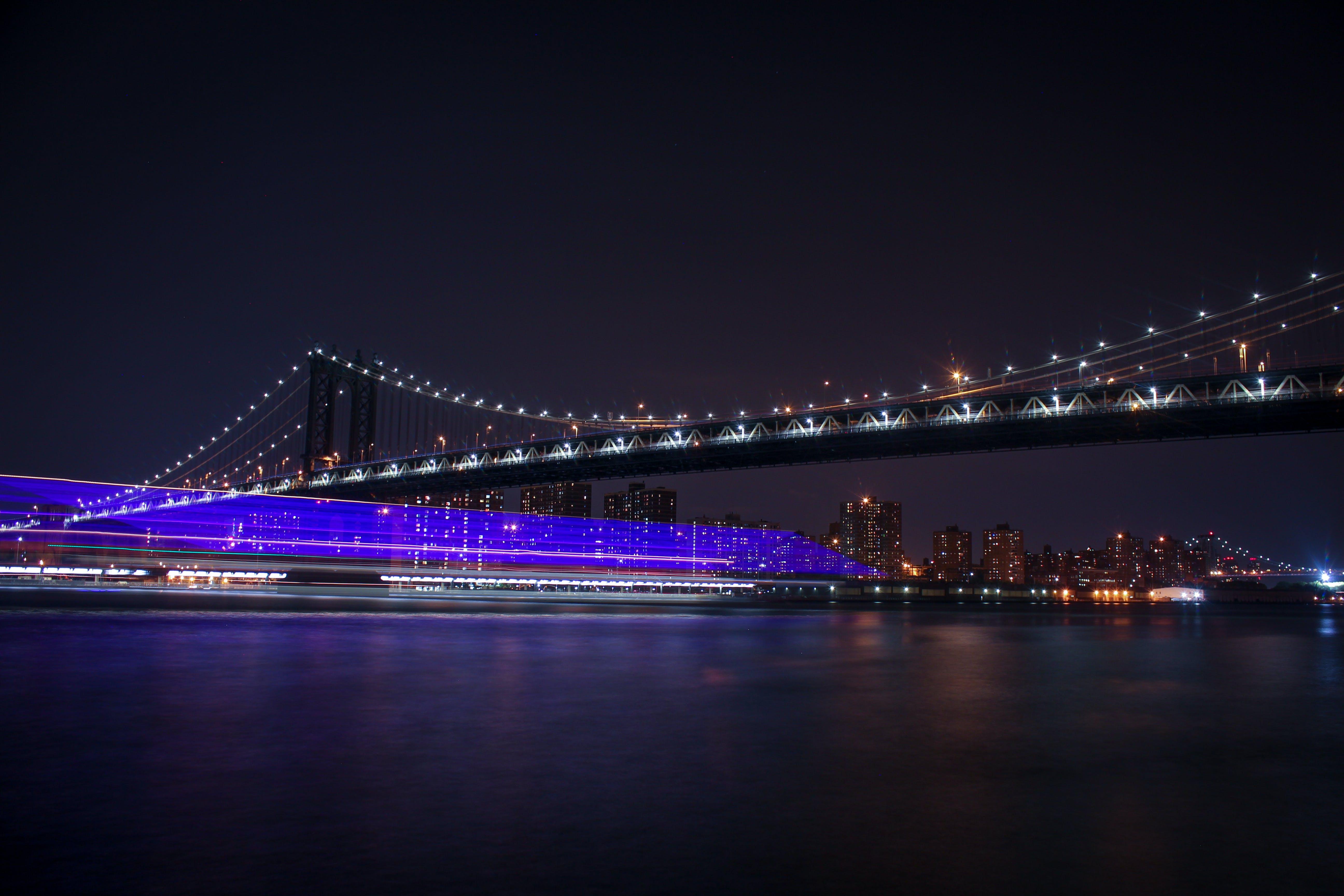 Δωρεάν στοκ φωτογραφιών με nyc, απόγευμα, γέφυρα, γραμμή ορίζοντα
