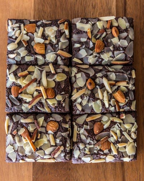brownie, çikolata, üstten görünüm içeren Ücretsiz stok fotoğraf