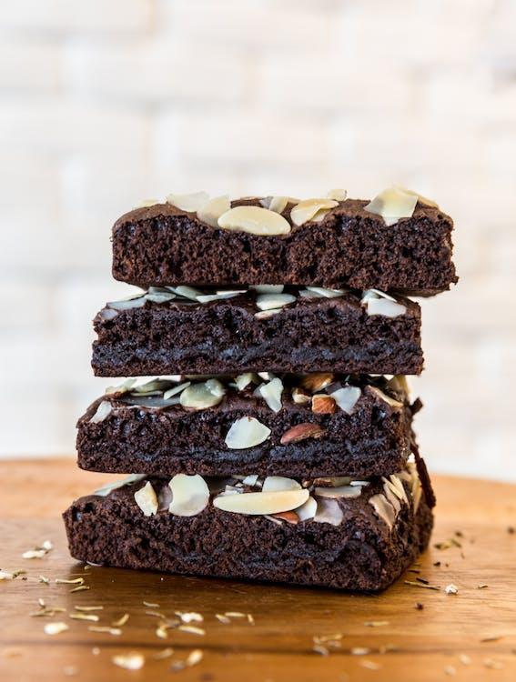 chutný, čokoláda, čokoládové koláčiky