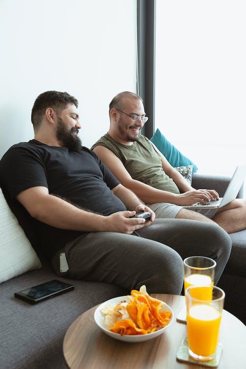 Free stock photo of bearded man, big man, body positive