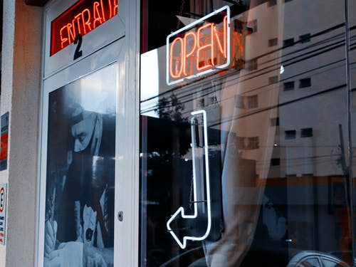 Shop with Neon Lights Signage