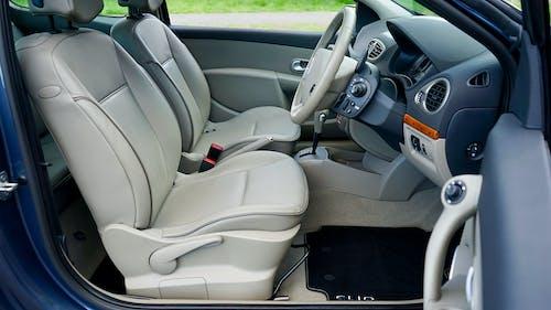 Gray and Brown Car Interior