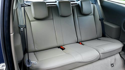 Gray Leather Car Seat