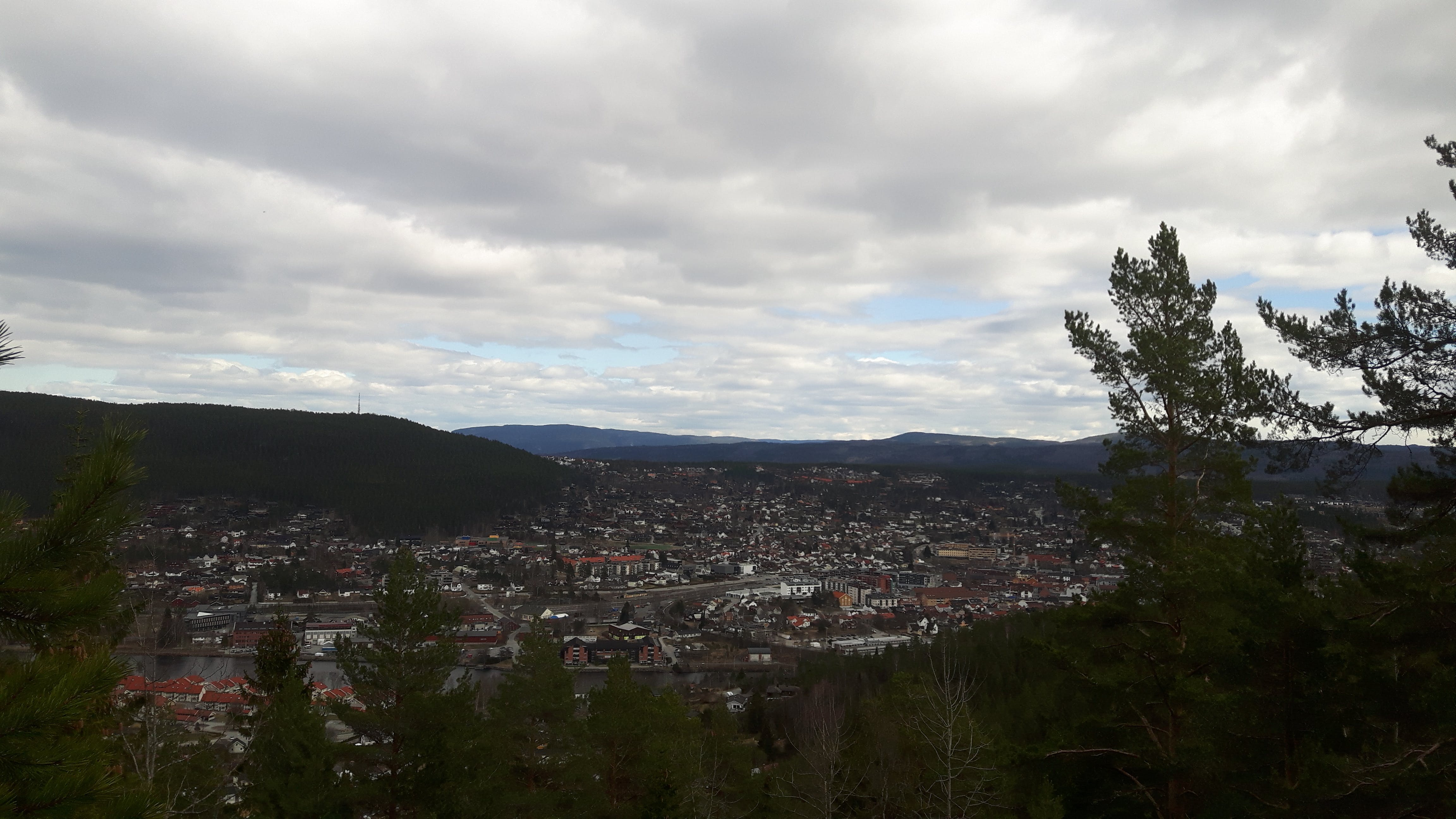 Free stock photo of city, green, Kongsberg, mountain top