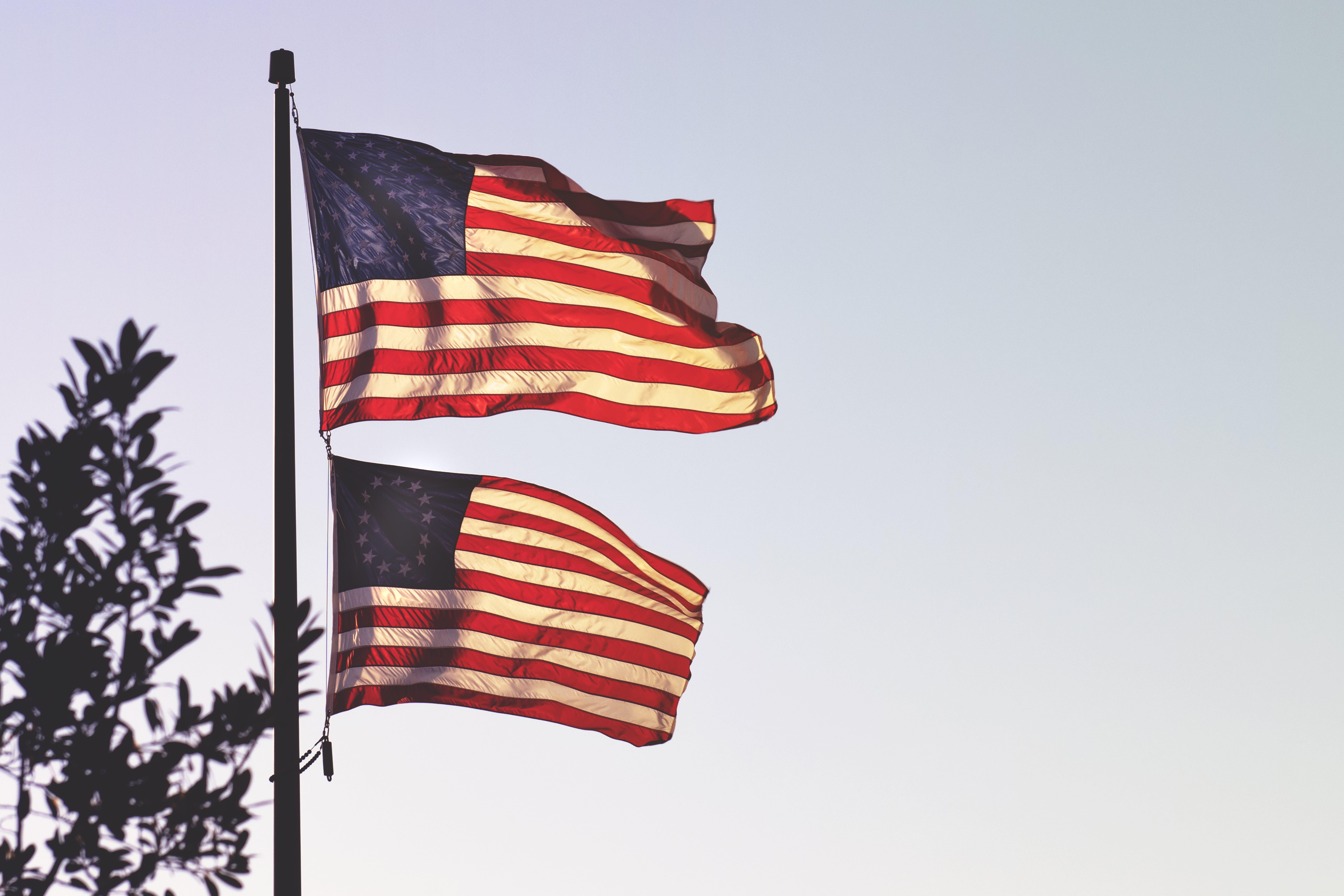 amerika, amerikanische flagge, amerikanische flaggen