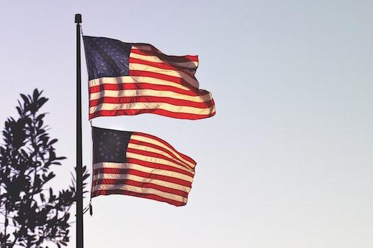 Kostenloses Stock Foto zu fahnen, freiheit, vereinigte staaten von amerika, flagge