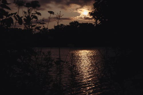 Gratis arkivbilde med bakbelysning, daggry, innsjø